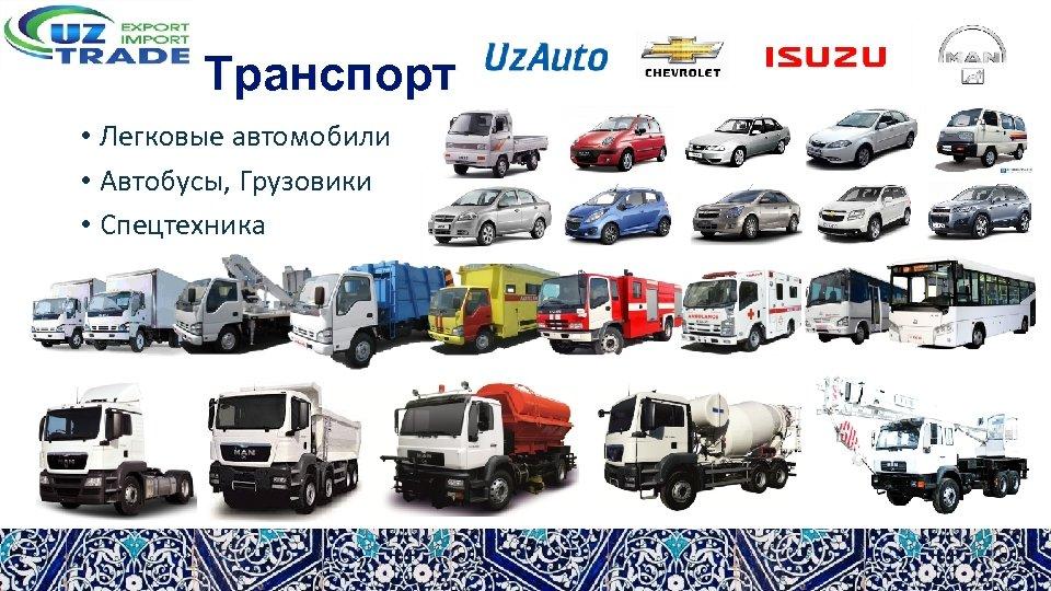 Транспорт • Легковые автомобили • Автобусы, Грузовики • Спецтехника