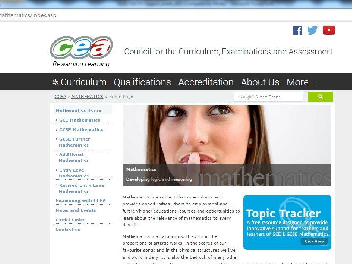 CCEA website
