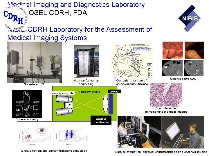 Medical Imaging and Diagnostics Laboratory DIAM, OSEL CDRH, FDA and NIBIB/CDRH Laboratory for the
