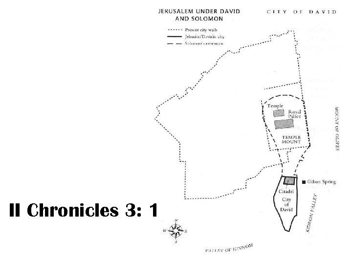 II Chronicles 3: 1