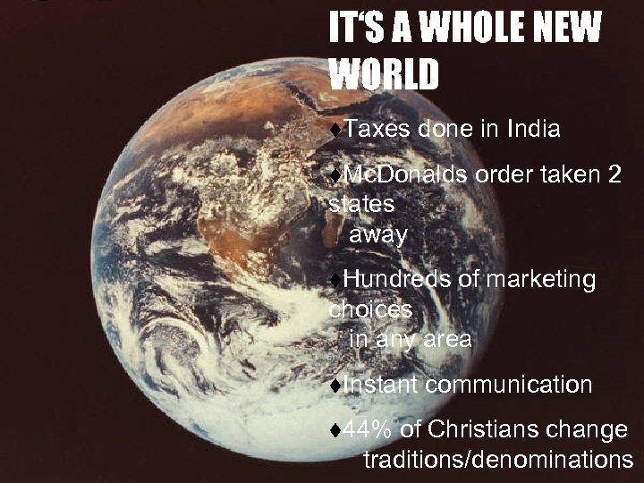 IT'S A WHOLE NEW WORLD t. Taxes done in India t. Mc. Donalds order