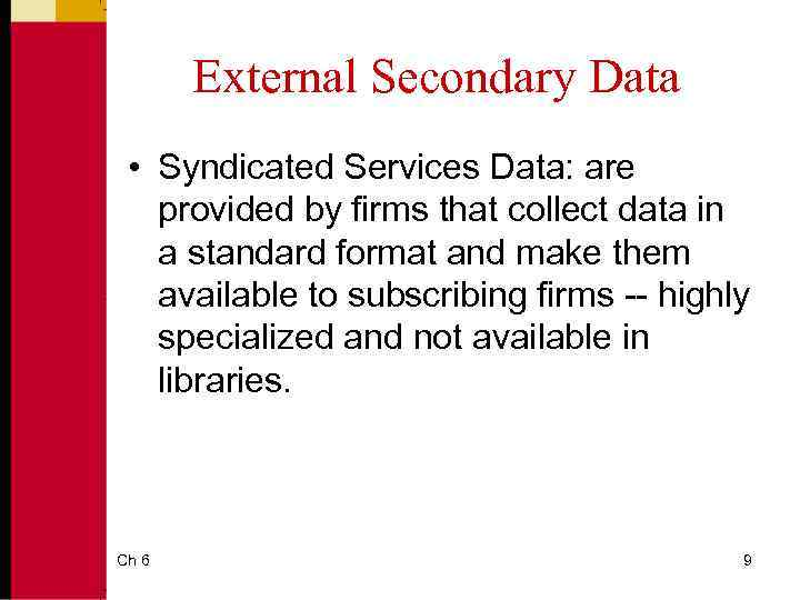 syndicated services