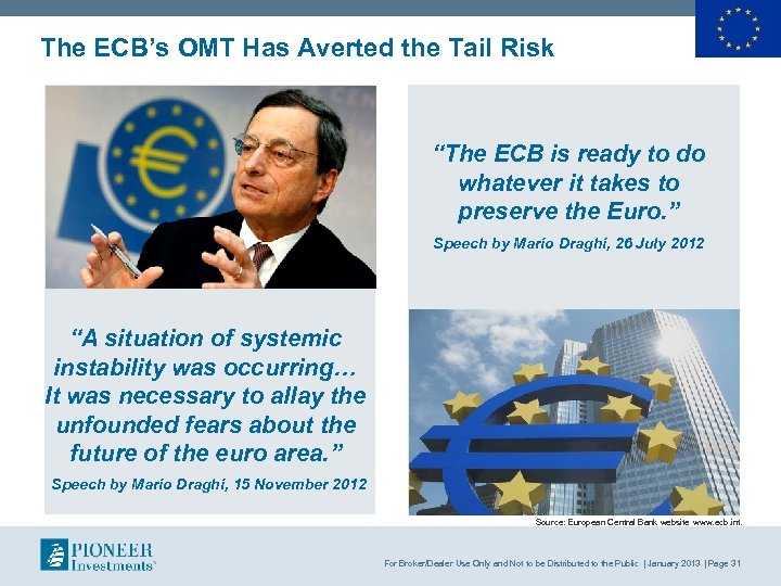 """The ECB's OMT Has Averted the Tail Risk """"The ECB is ready to do"""