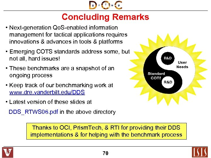 Concluding Remarks • Next-generation Qo. S-enabled information management for tactical applications requires innovations &