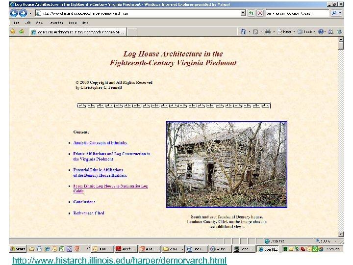 http: //www. histarch. illinois. edu/harper/demoryarch. html