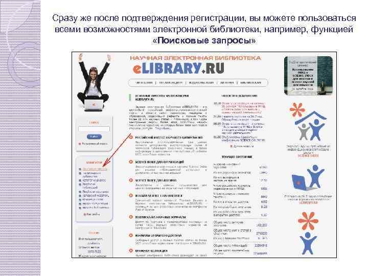 Сразу же после подтверждения регистрации, вы можете пользоваться всеми возможностями электронной библиотеки, например, функцией