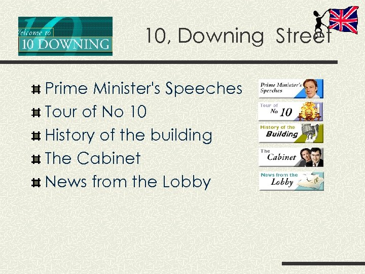 10, Downing Street Prime Minister's Speeches Tour of No 10 History of the building