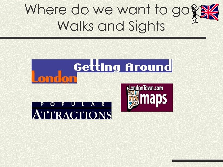 Where do we want to go? Walks and Sights