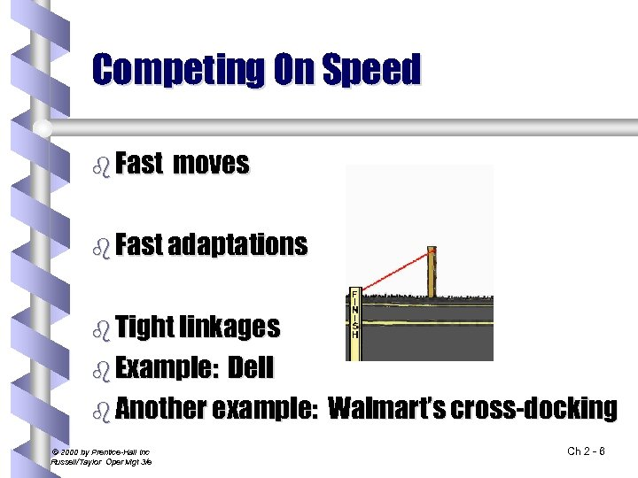 Competing On Speed b Fast moves b Fast adaptations b Tight linkages b Example: