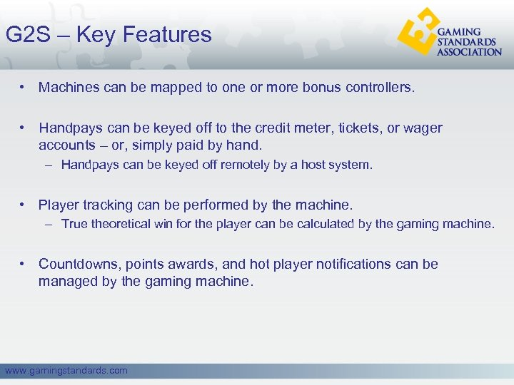 G 2 S – Key Features • Machines can be mapped to one or