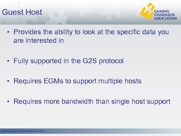 Guest Host • Provides the ability to look at the specific data you are