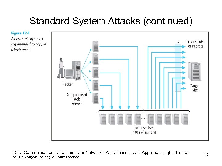 Standard System Attacks (continued) Data Communications and Computer Networks: A Business User's Approach, Eighth