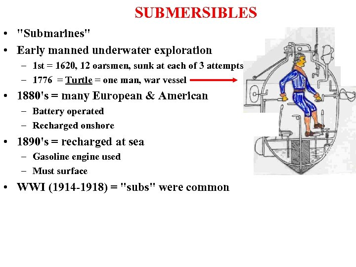 SUBMERSIBLES •