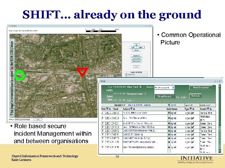 SHIFT… already on the ground This page is presented and accepted by the FDF