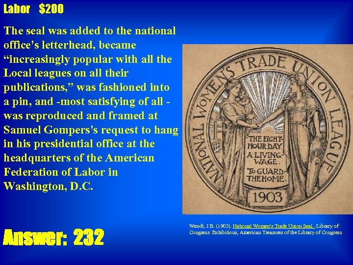 """Labor $200 The seal was added to the national office's letterhead, became """"increasingly popular"""