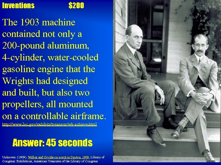 Inventions $200 The 1903 machine contained not only a 200 -pound aluminum, 4 -cylinder,