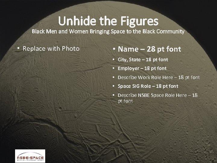 Unhide the Figures Black Men and Women Bringing Space to the Black Community •