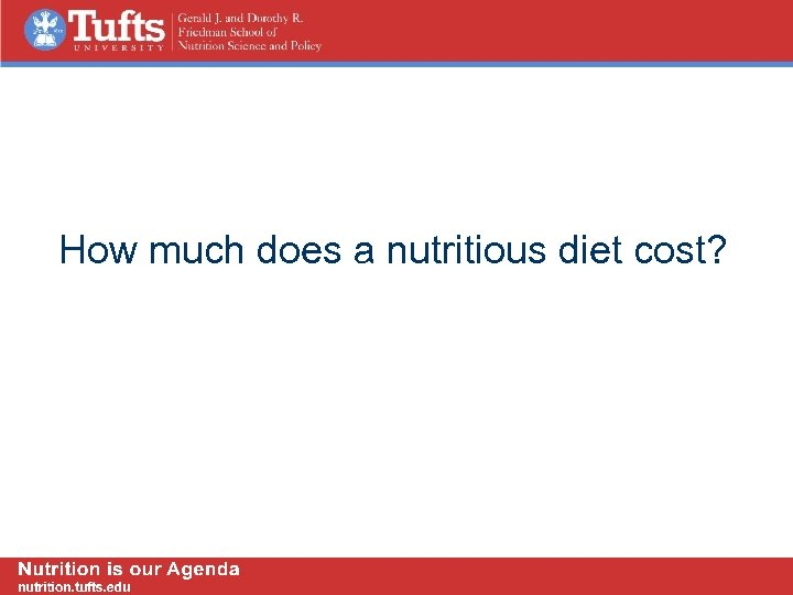 How much does a nutritious diet cost?