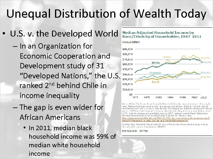 Unequal Distribution of Wealth Today • U. S. v. the Developed World – In