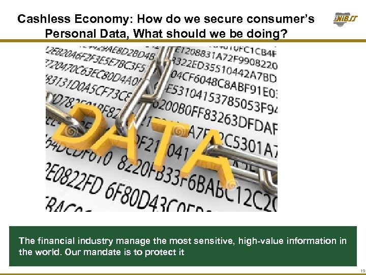 Cashless Economy: How do we secure consumer's Personal Data, What should we be doing?