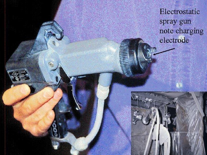 Electrostatic spray gun note charging electrode