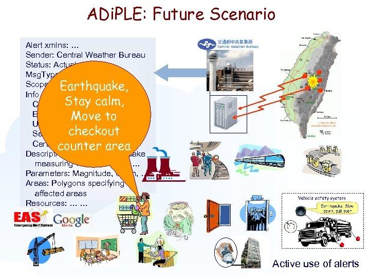 ADi. PLE: Future Scenario Alert xmlns: … Sender: Central Weather Bureau Status: Actual Msg.