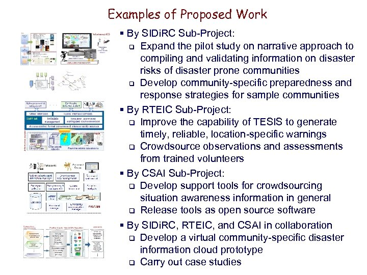 Examples of Proposed Work § By SIDi. RC Sub-Project: q Expand the pilot study