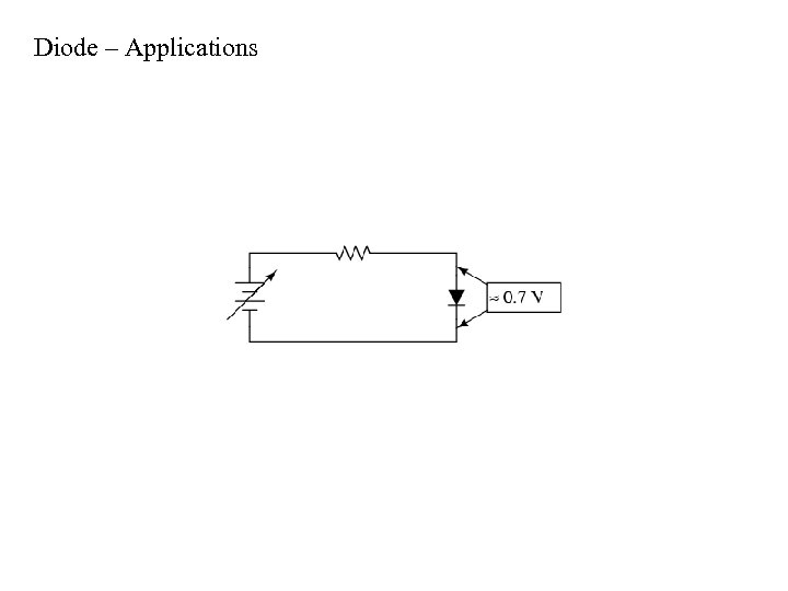 Diode – Applications