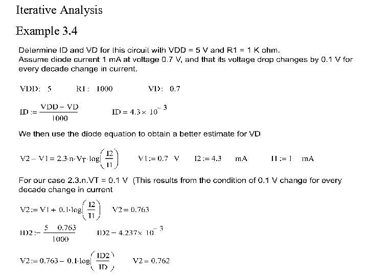 Iterative Analysis Example 3. 4