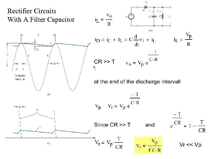 Rectifier Circuits With A Filter Capacitor