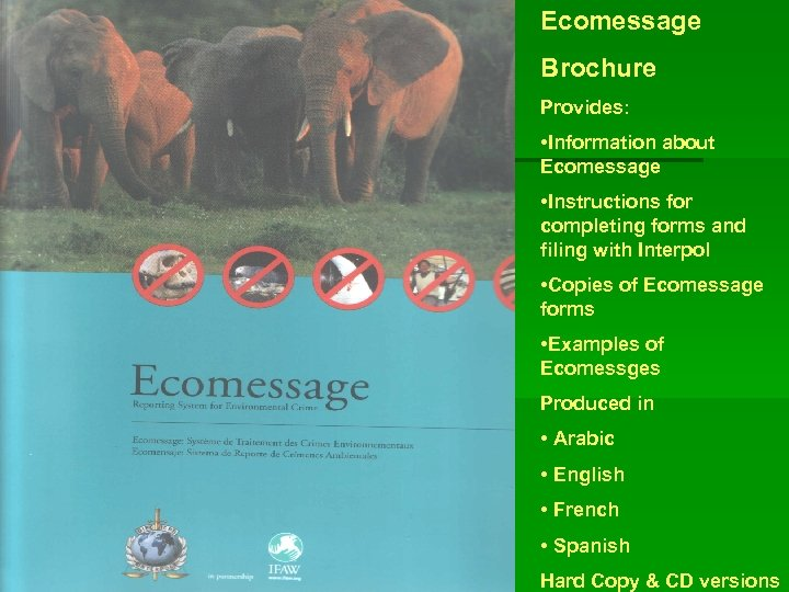 Ecomessage Brochure Provides: • Information about Ecomessage • Instructions for completing forms and filing