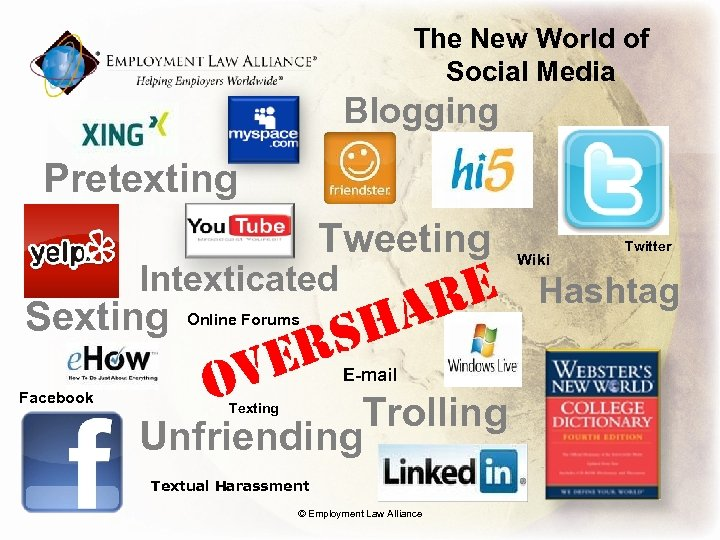 The New World of Social Media Blogging Pretexting Tweeting Intexticated Sexting Facebook RS VE