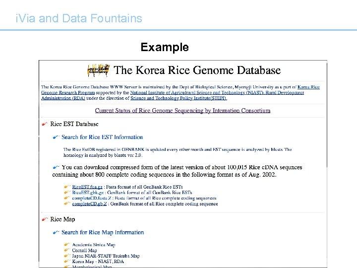 i. Via and Data Fountains Example