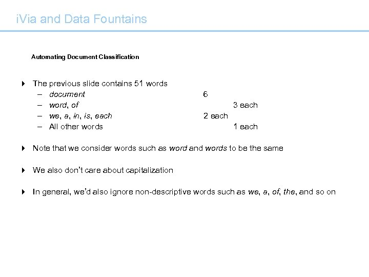 i. Via and Data Fountains Automating Document Classification 4 The previous slide contains 51