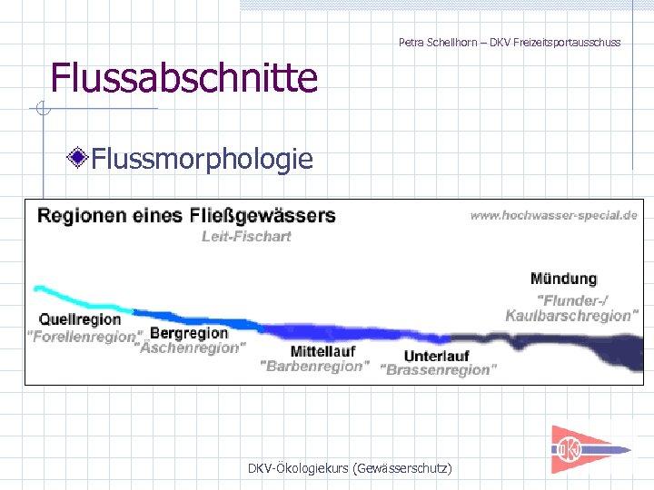 Petra Schellhorn – DKV Freizeitsportausschuss Flussabschnitte Flussmorphologie DKV-Ökologiekurs (Gewässerschutz)