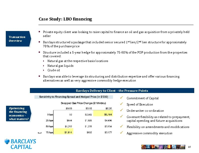 Case Study: LBO financing § Private equity client was looking to raise capital to