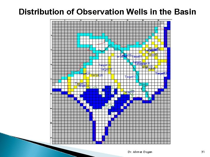 Distribution of Observation Wells in the Basin Dr. Ahmet Dogan 31