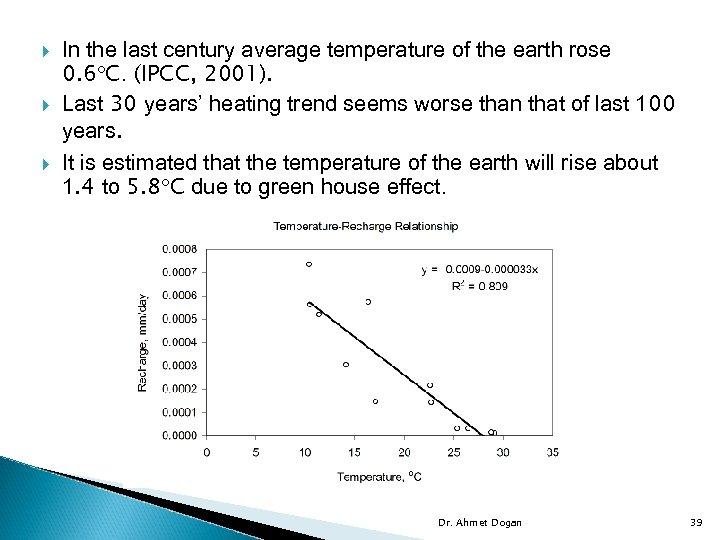 In the last century average temperature of the earth rose 0. 6 C.