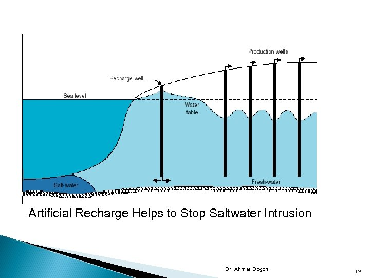Artificial Recharge Helps to Stop Saltwater Intrusion Dr. Ahmet Dogan 49