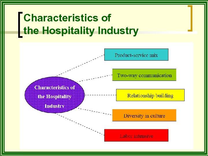 Characteristics of the Hospitality Industry
