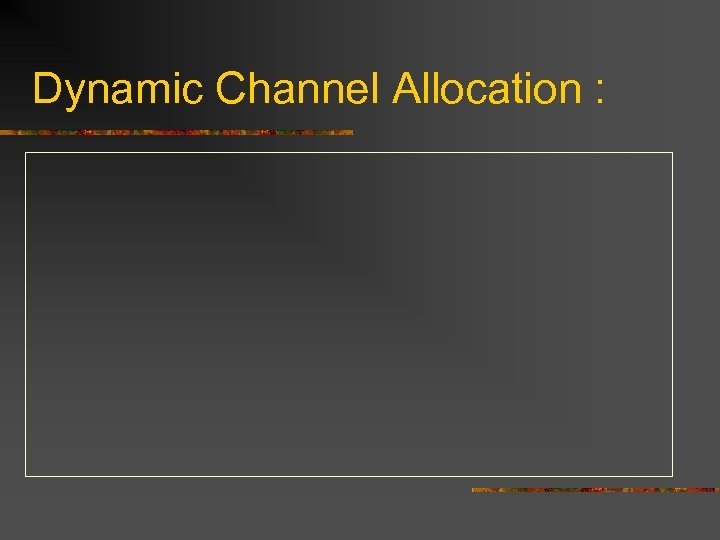 Dynamic Channel Allocation :