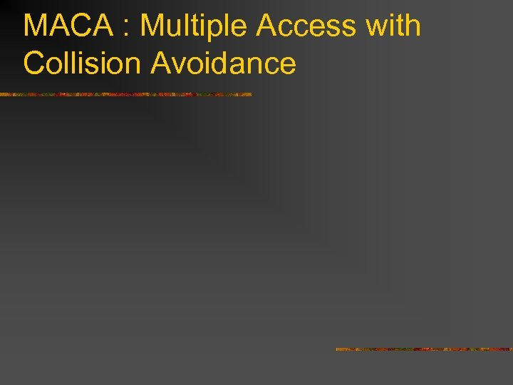 MACA : Multiple Access with Collision Avoidance