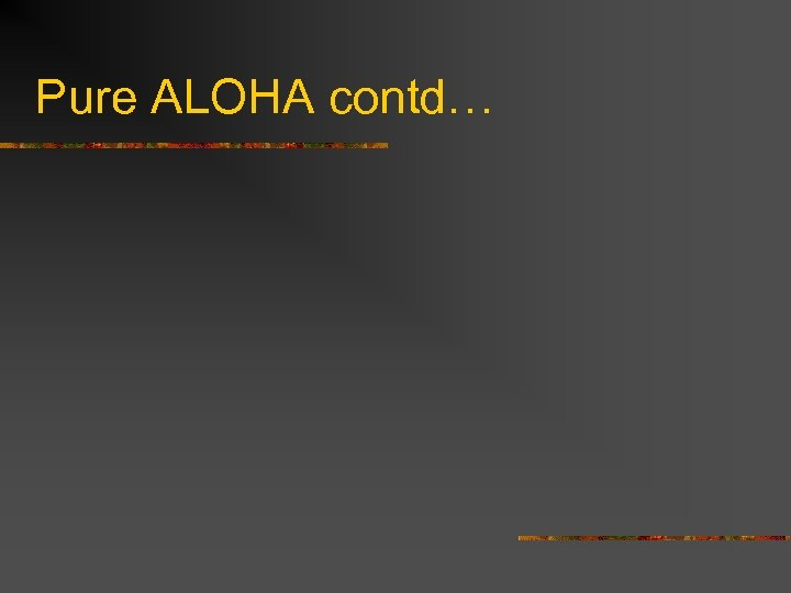 Pure ALOHA contd…