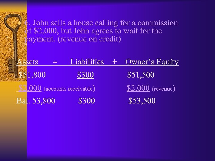¨ 6. John sells a house calling for a commission of $2, 000, but
