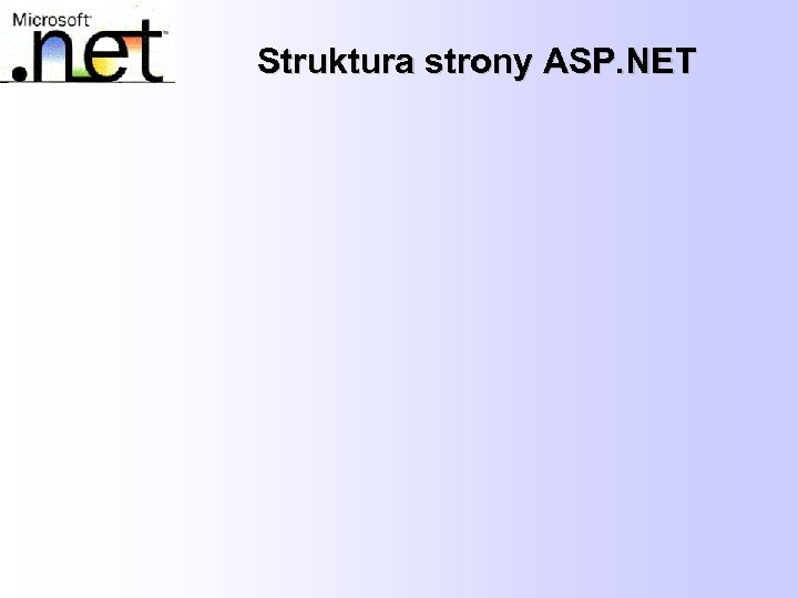 Struktura strony ASP. NET