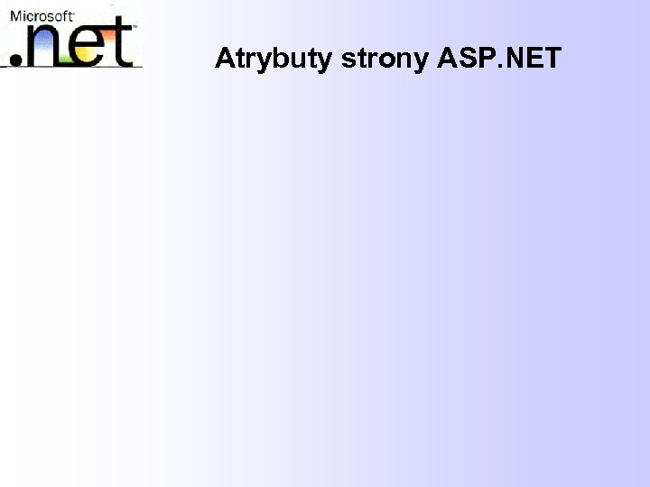 Atrybuty strony ASP. NET