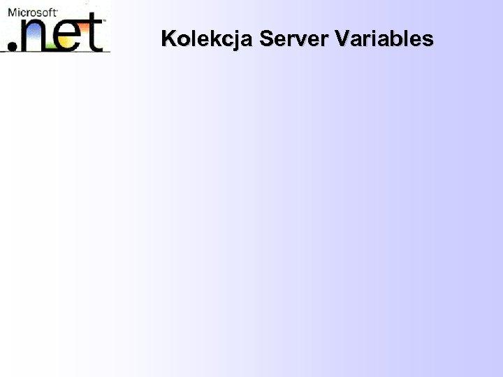 Kolekcja Server Variables