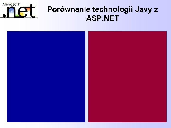 Porównanie technologii Javy z ASP. NET