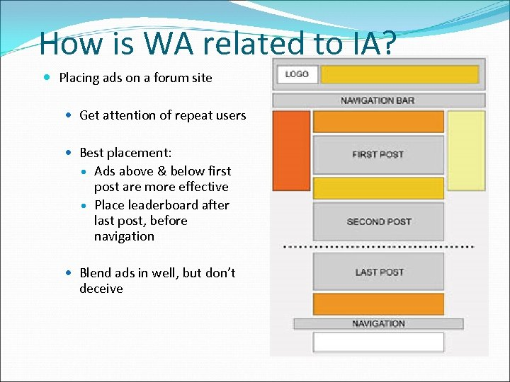 How is WA related to IA? Placing ads on a forum site Get attention
