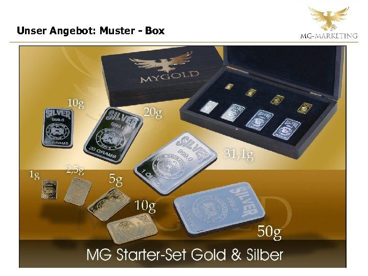 Unser Angebot: Muster - Box